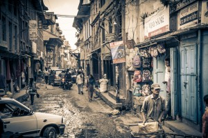 My friend and I walked the streets of Pattan one Saturday morning and found this typical Nepali street.